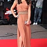 A pretty salmon-coloured dress was a chic choice at the UK Finals of Celebrate Success in 2011.