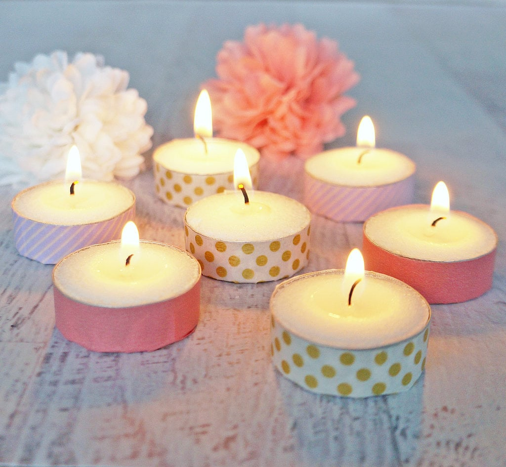 Washi-Tape Votives