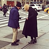 We spotted Bill Cunningham —in his signature blue jacket, of course — while walking to work.