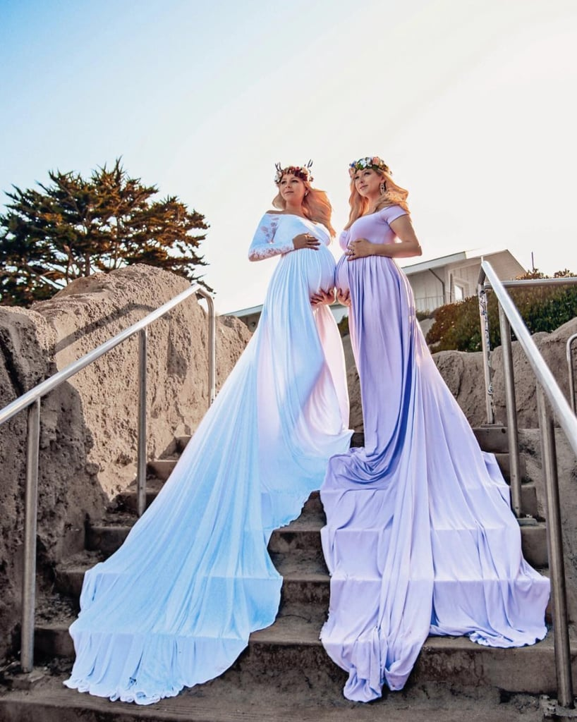 These sisters' maternity gowns are absolutely stunning.