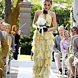 Serena van der Woodsen Wearing a Yellow Halter Dress