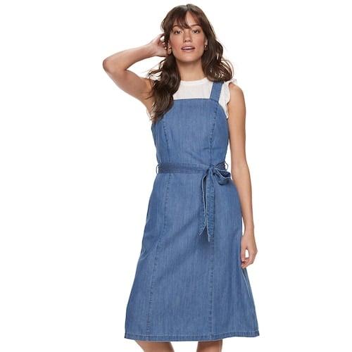 POPSUGAR Belted Denim Dress