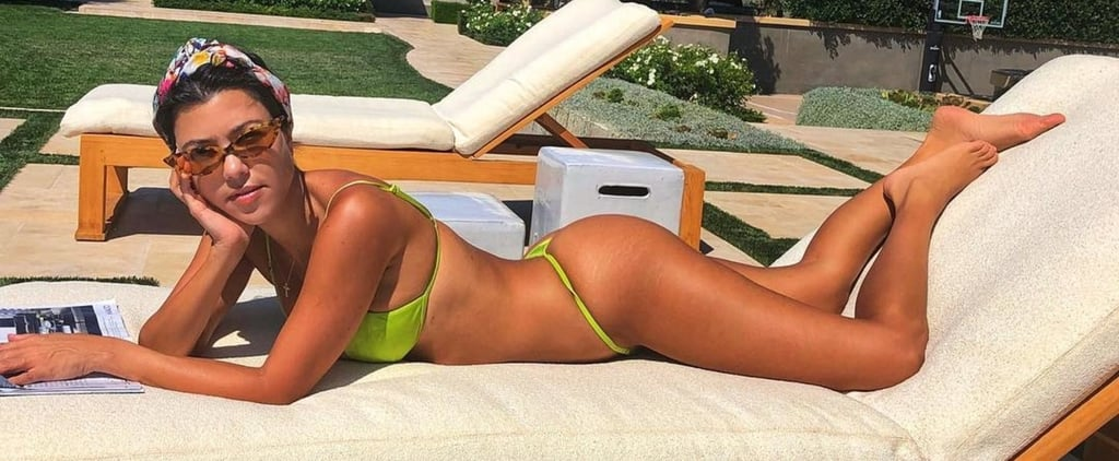 Kourtney Kardashian's Green String Bikini