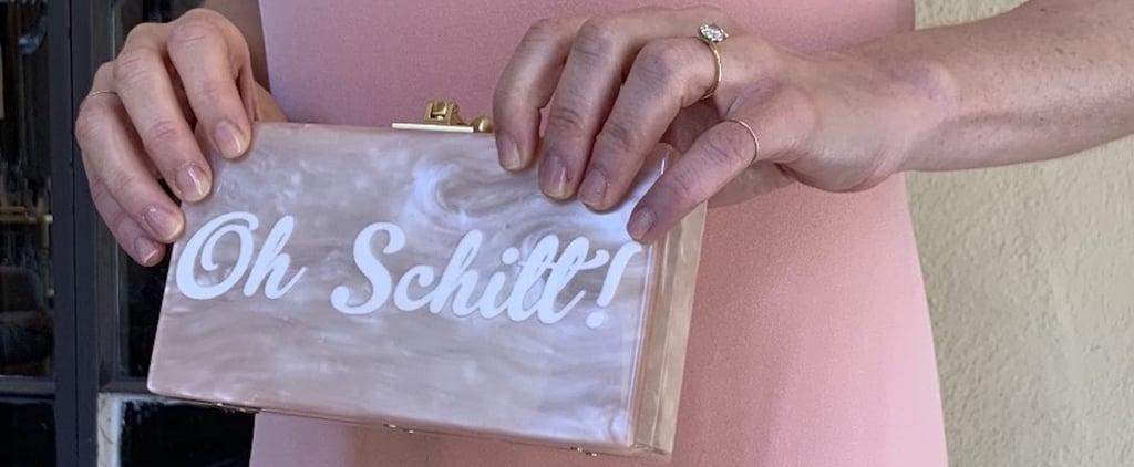 "Sarah Levy's ""Oh Schitt!"" Clutch at SAG Awards 2021"