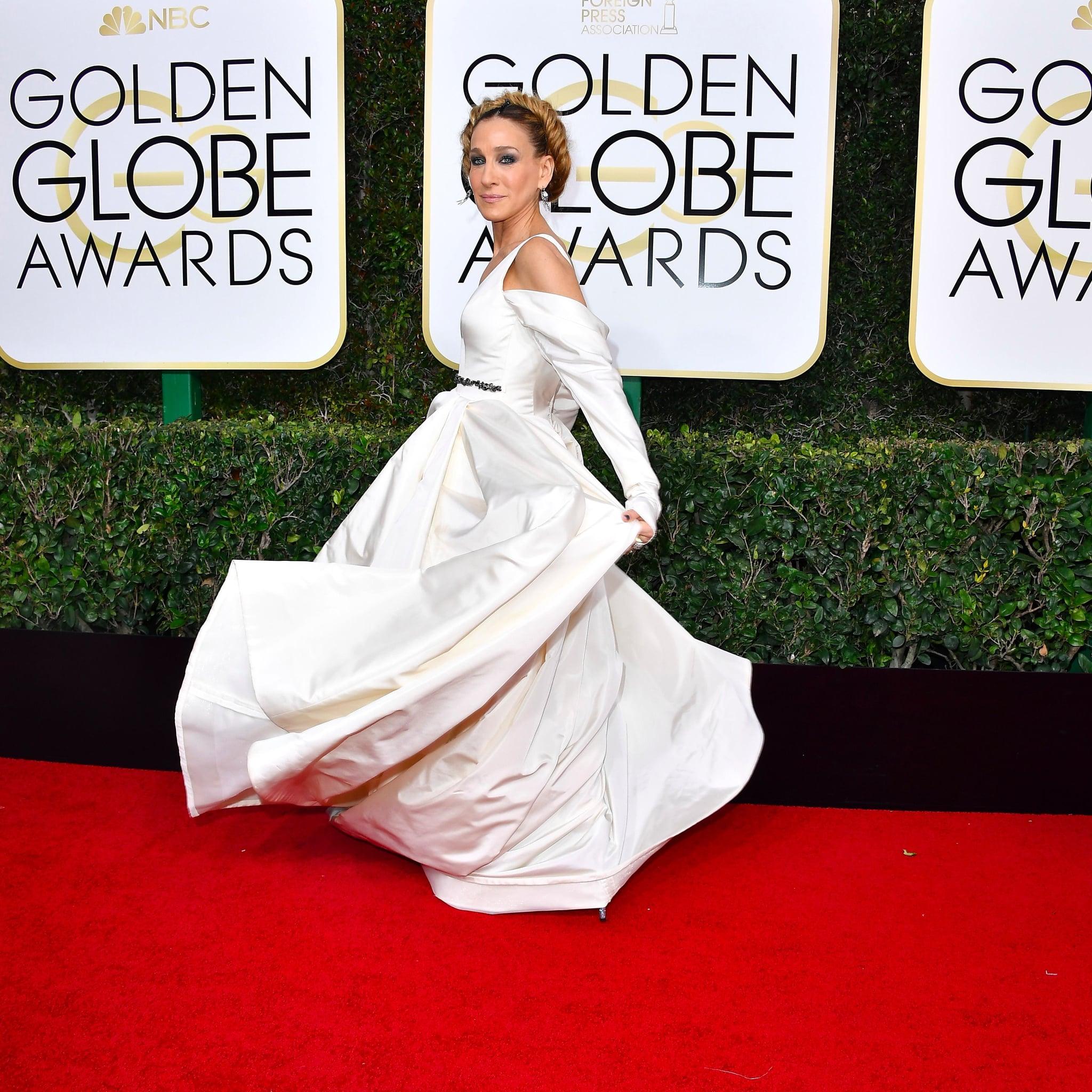 White dress golden globes 2018 full