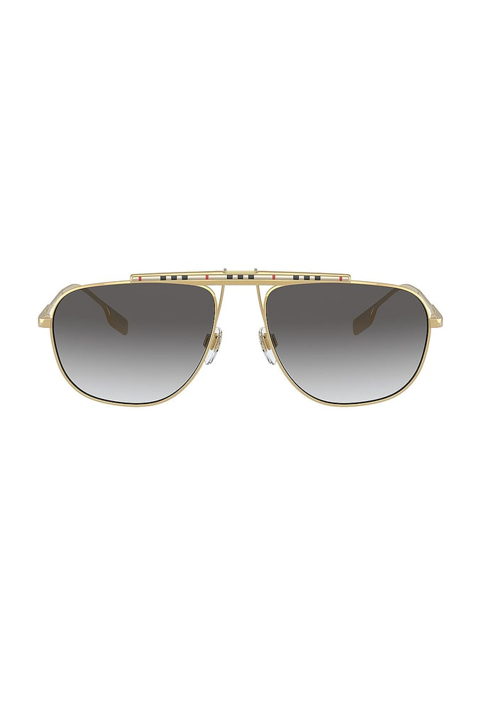 Burberry B.Stripe Dean Aviator in Gold & Grey Gradient