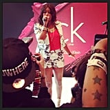 "Eve gave an outstanding performance at the Hard Rock Hotel. We don't know what we loved more, her rendition of ""Let Me Blow Ya Mind"" or her amazing shorts suit from Topshop London. Source: Instagram user POPSUGARFashion"