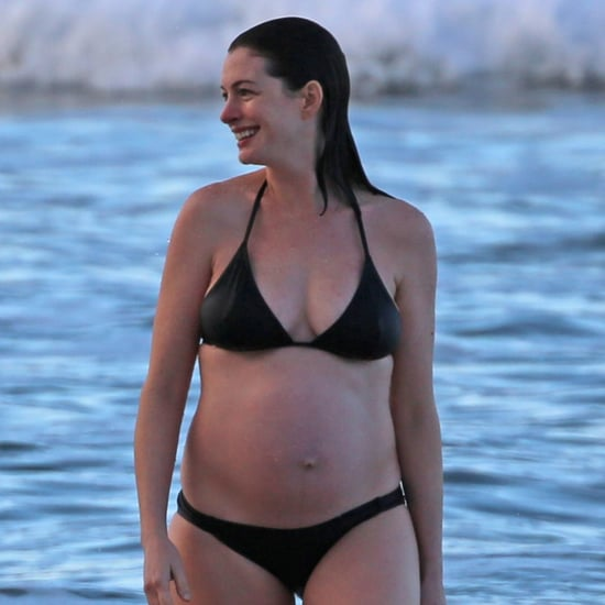 Anne Hathaway Pregnant Bikini Pictures January 2016