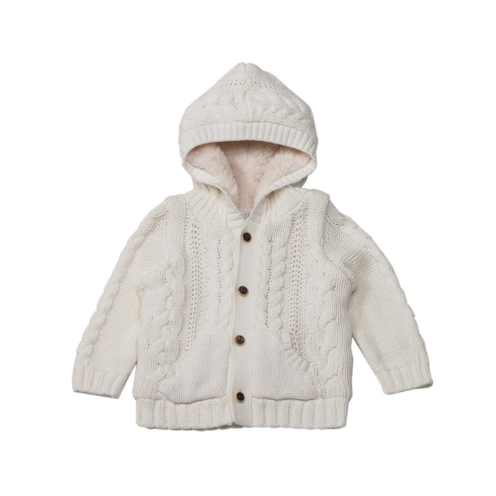 Egg by Susan Lazar Cable Hoodie