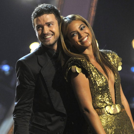 Beyoncé leaned on Justin Timberlake during their September 2008 Fashion Rocks performance at NYC's Radio City Music Hall.