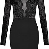 French Connection Fashion Week Lace Velvet Dress