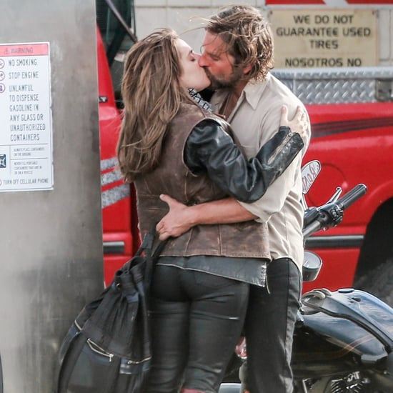 Lady Gaga and Bradley Cooper Kissing on A Star Is Born Set