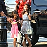 Katie Holmes took Suri Cruise to an athletic center in NYC.