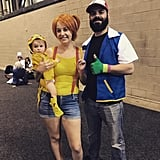 Ash, Misty, and Pikachu