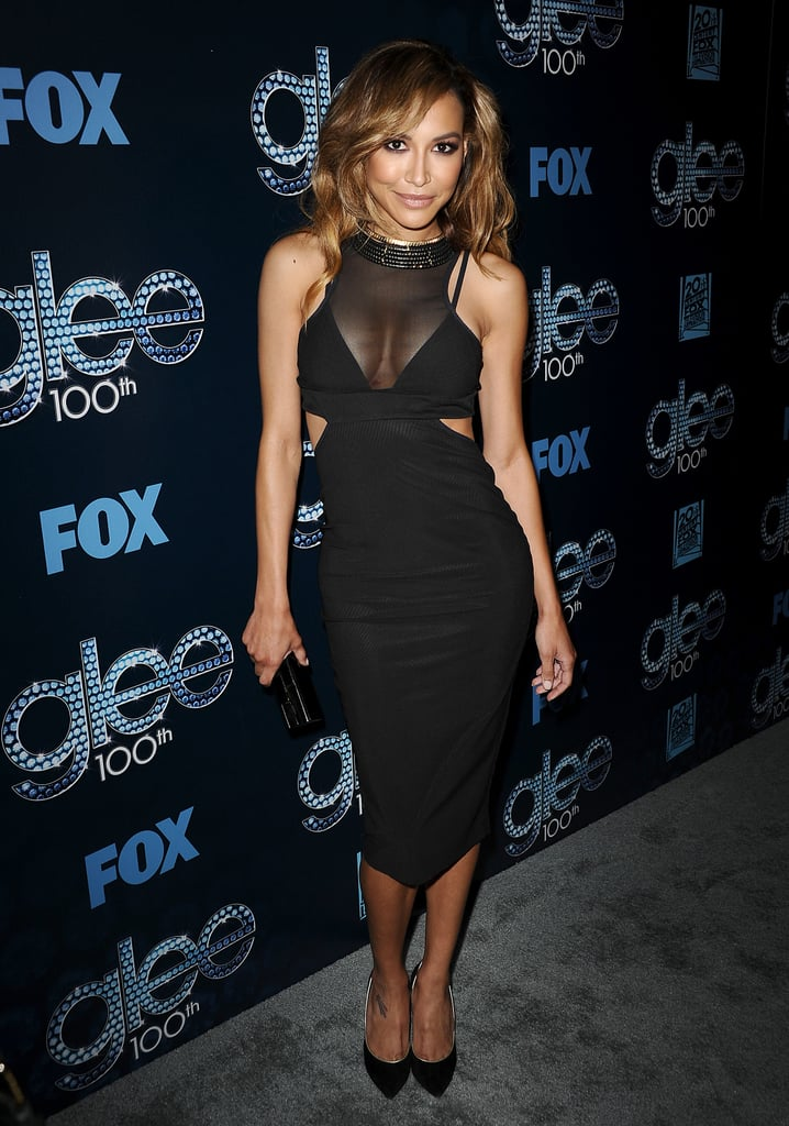 Naya Rivera sizzled in a sheer LBD.