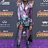 Letitia Wright's Purple Prada Suit