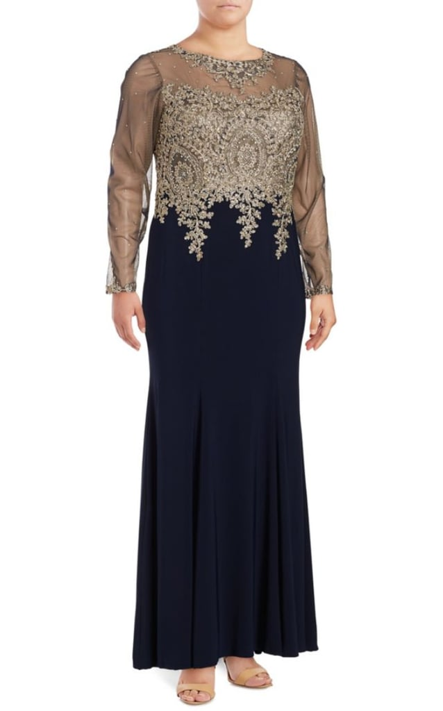 Xscape Evenings Embellished Illusion Gown | Ivanka Trump Outfits in ...
