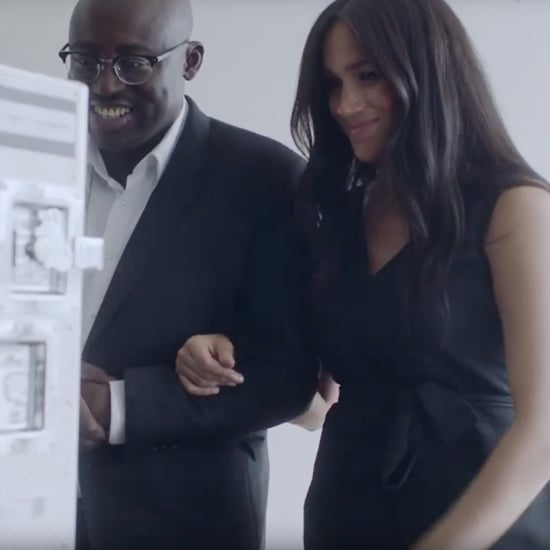 Meghan Markle Black Everlane Jumpsuit at British Vogue Shoot