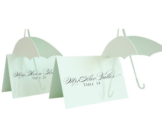 Umbrella Escort Cards