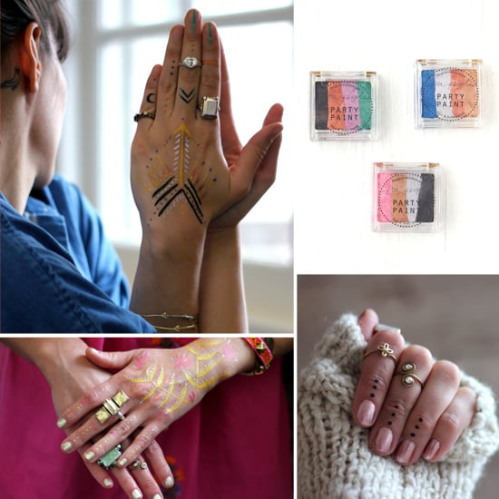 We're smitten with Free People's Party Paint ($12 each); it's the perfect boho-cool way to jazz up a cocktail party look, and all you need is a little time and creativity. Source: Free People Blog