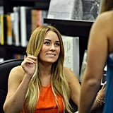 Lauren Conrad signed copies of her books at a Miami bookstore.