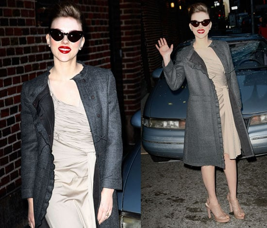 Photos of Scarlett Johansson at Letterman