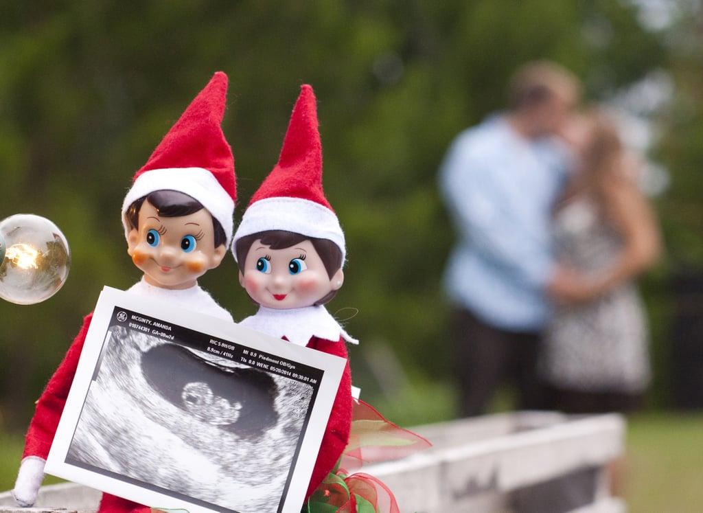 Cute Holiday Pregnancy Announcement Ideas Popsugar Moms