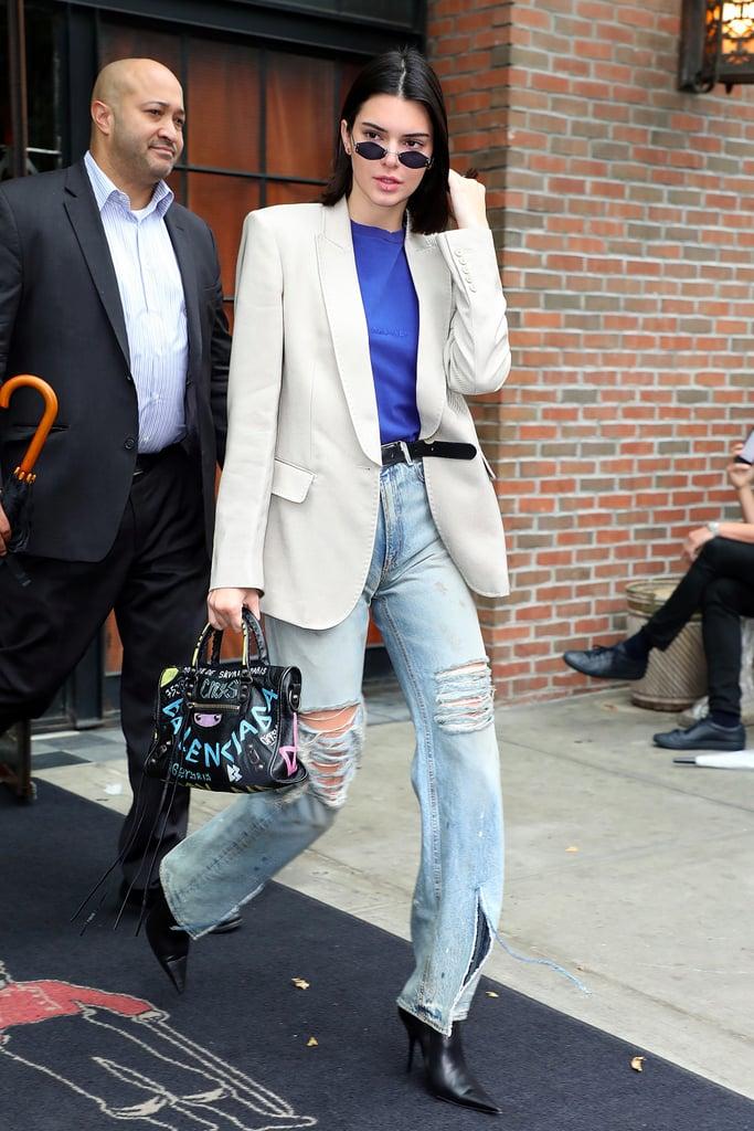 322e2640d0b Kendall Jenner s Balenciaga Graffiti Bag