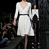 Kendall Walked in the DVF Show Wearing a New Take on the Designer's Iconic Wrap Dress