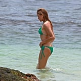 Cameron Diaz sported a green bikini while in Hawaii in May 2009.
