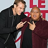 Matthew Noszka and Jacob Batalon at the Let It Snow Premiere