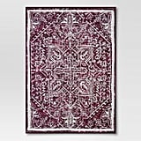 Distressed Medallion Berry Outdoor Rug