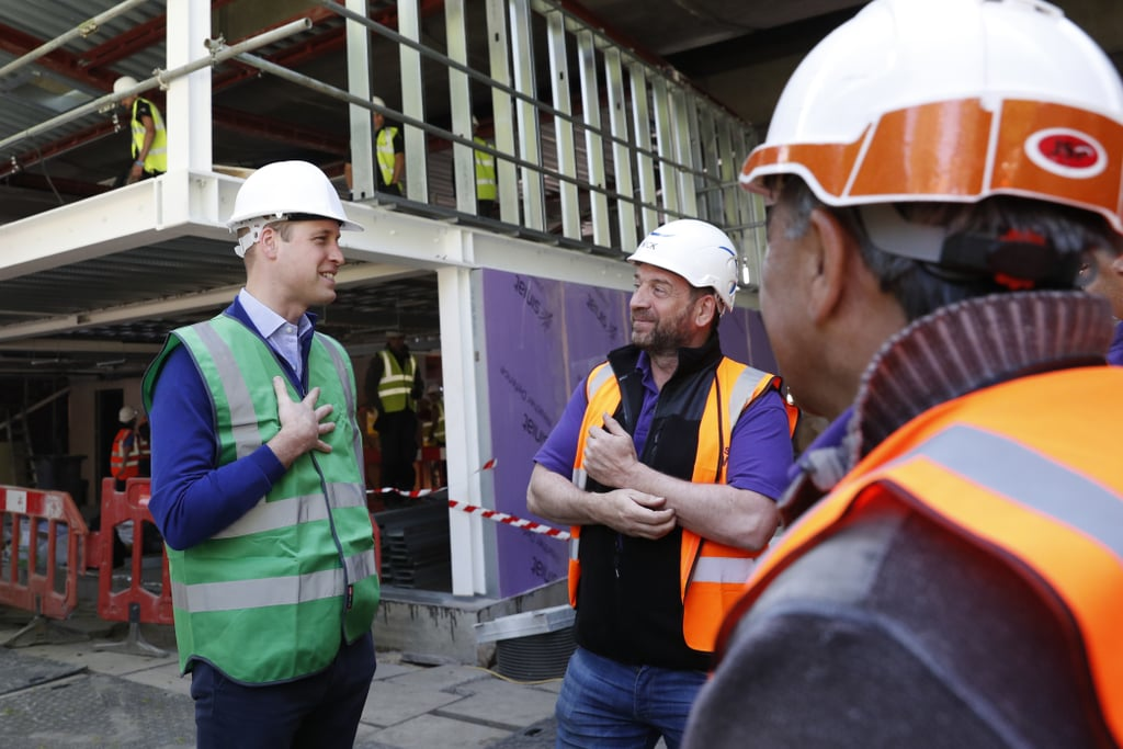 "Prince William may be helping Prince Harry get ready for his big day on Saturday, but that certainly isn't keeping him from his royal engagements. On Tuesday, William assisted a group of construction workers in building a new community center in London. The center is replacing a boxing club that was destroyed in the devastating Grenfell Tower fire back in June 2017. The royal's philanthropic outing was filmed for a BBC One show and will air later this year.    William has an exciting weekend ahead of him. The royal will be serving as Harry's best man when he ties the knot with Meghan Markle on Saturday, but there's just one tiny problem: England's Football Association Cup final between Manchester United and Chelsea is also on Saturday. Why does this matter, you ask? Well, William has been the president of the FA since 2006, so he's expected to attend the final game. It's still unclear if William plans on attending both affairs, but he technically could since Harry and Meghan's wedding is at 12 p.m. GMT at St. George's Chapel at Windsor Castle and the kickoff for the final is at 5:15 p.m. GMT at Wembley Stadium. When asked about his plans back in January, William told a reporter he was still ""working it out."" I guess we'll all find out what William ends up doing in a few days."