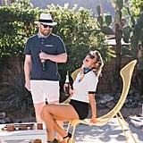 Retro Palm Springs Engagement Photos