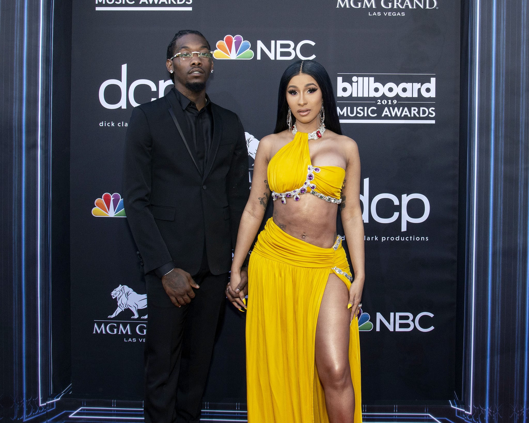 LAS VEGAS, NEVADA - MAY 01: Offset and Cardi B attend the 2019 Billboard Music Award at MGM Grand Garden Arena on May 01, 2019 in Las Vegas, Nevada. (Photo by Daniel Torok/Patrick McMullan via Getty Images)