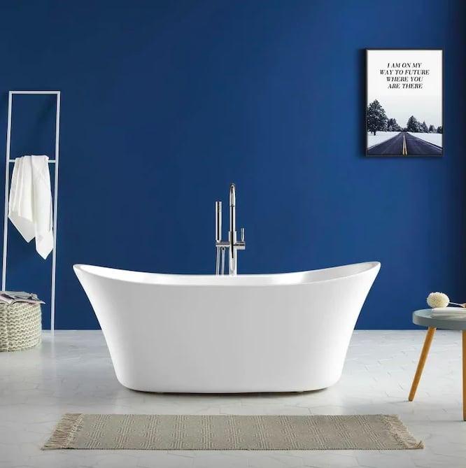 allen + roth Canberra Freestanding Soaking Bathtub