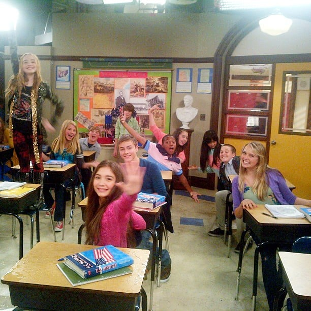 "Savage tweeted this photo with the caption ""My first class"" — is he the new Mr. Feeny? Source: Instagram user bensavage"