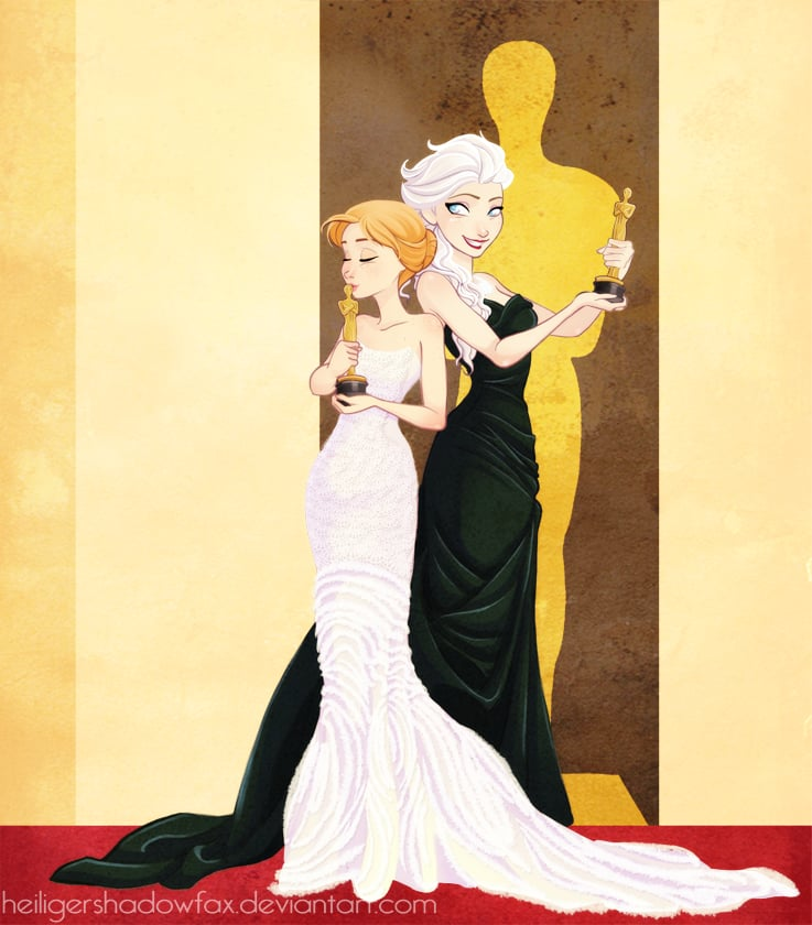 Red Carpet Elsa and Anna