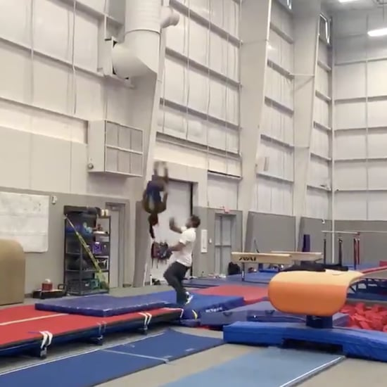 Simone Biles Double Layout Double Backflip Video