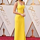 Eiza Gonzalez Wearing Yellow Dress at the Oscars 2018