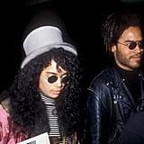 Lisa Bonet et Lenny Kravitz en 1988
