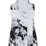 We love this cocktail-appropriate silk mini, from its artsy black-and-white print to its racer-neck detail.  Factory by Erik Hart Printed Stretch-Jersey Dress ($123)