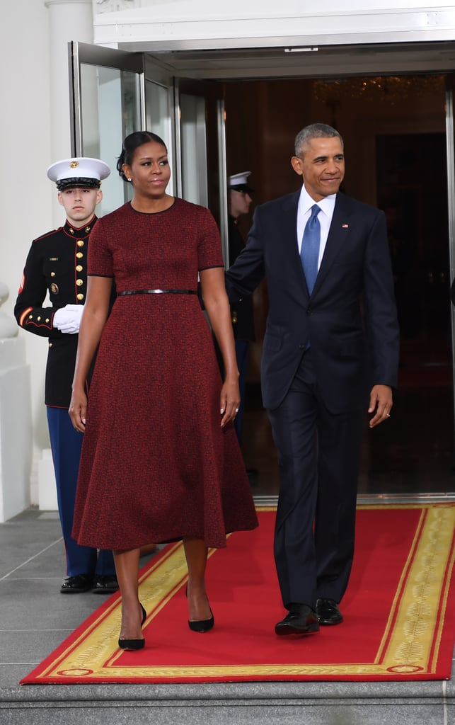 Michelle Obama Red Dress at Inauguration 2017 | POPSUGAR Fashion