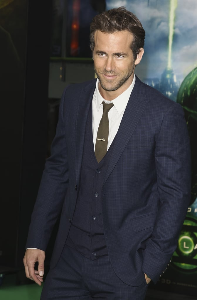 Ryan Reynolds flashed a sexy smile.