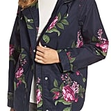 Joules Right as Rain Print Waterproof Hooded Jacket