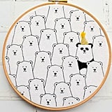 Party Panda Hand Embroidery Hoop Kit