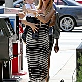 Rachel Zoe brings son Skyler to lunch at Hugo's in West Hollywood.