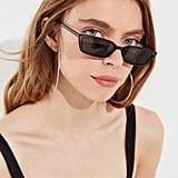 UO Gigi Slim Rectangle Sunglasses