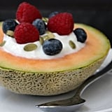 Yogurt-Filled Cantaloupe Bowl