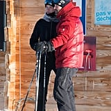 Jason Statham and Rosie Huntington-Whiteley stepped out together to go skiing.